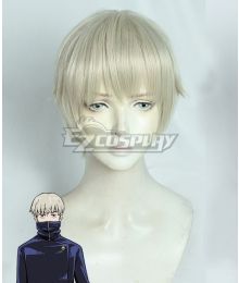 Jujutsu Kaisen Sorcery Fight Toge Inumaki Grey White Cosplay Wig