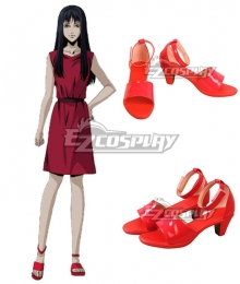 Junji Ito Collection Kawakami Tomie Red Shoes Cosplay Boots