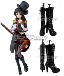 K-ON Mio Akiyama 5th Anniversary Black Shoes Cosplay Boots