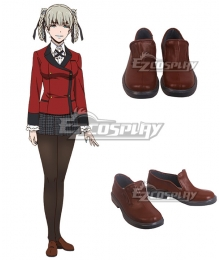 Kakegurui Compulsive Gambler Kirari Momobami Brown Cosplay Shoes