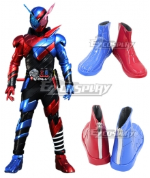 Kamen Rider Build Blue Red Cosplay Boots