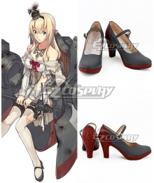 Kantai Collection Warspite Grey Cosplay Shoes