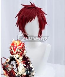 Katekyo Hitman Reborn! Enma Kozato Red Cosplay Wig