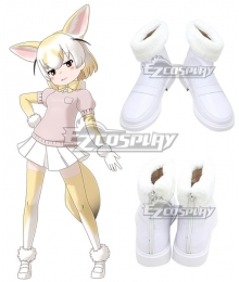 Kemono Friends Fennec White Cosplay Shoes