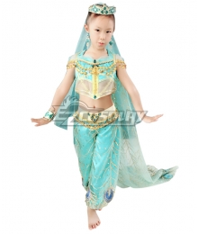 Kids Adult Disney 2019 ALADDIN Princess Jasmine Cosplay Costume - Customizable Kids Size