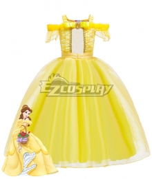 Kids Child Size Disney Beauty and the Beast Belle Cosplay Costume