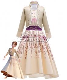 Kids Child Size Disney Frozen 2 Anna Dress Cosplay Costume