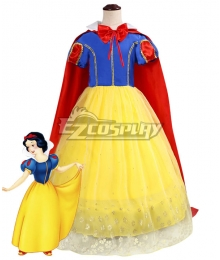 Kids Child Size Disney Snow White Princess Cosplay Costume