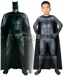 Kids DC Justice League Batman Bruce Wayne Zentai Jumpsuit Cosplay Costume