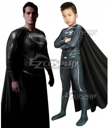 Kids DC Justice League  Clark Kent Superman Zentai Jumpsuit Cosplay Costume