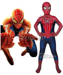 Kids Marvel Movie Spider-Man 2 Tobey Maguire Jumpsuit Cosplay Costume