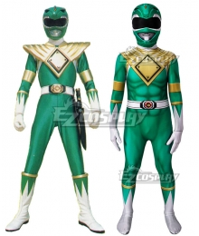 Kids Power Rangers Green Ranger Zentai Jumpsuit Cosplay Costume