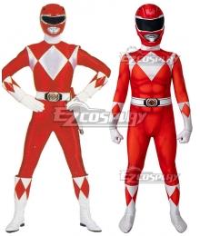 Kids Power Rangers jason red ranger Zentai Jumpsuit Cosplay Costume