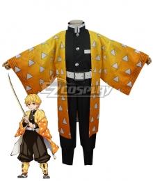 Kids Size Demon Slayer Kimetsu No Yaiba Agatsuma Zenitsu Cosplay Costume
