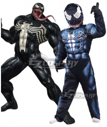 Kids Venom Marvel Eddie Brock Halloween Cosplay Costume