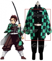 Demon Slayer: Kimetsu No Yaiba Kamado Tanjirou Cosplay Costume - Only Coat