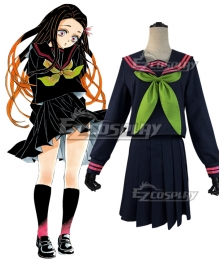 Demon Slayer: Kimetsu No Yaiba Nezuko Kamado School Uniforms Cosplay Costume