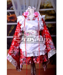 Kimono Design Printing Maid Dress Cosplay Costume-Y536