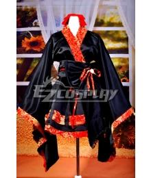 Kimono Design Tapestry Satin Lolita  Cosplay Costume