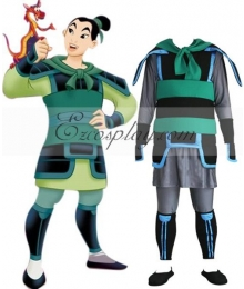 Disney Princess Hua Mulan Soldier Cosplay Costume