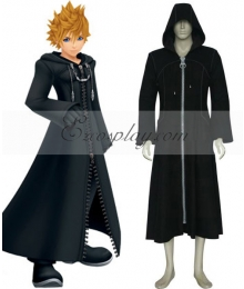 Kingdom Hearts 2 Organization XIII Roxas Black Cosplay Costume