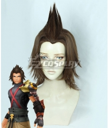 Kingdom Hearts Birth by Sleep Terra Brown Cosplay Wig