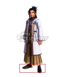 Kingdom Hearts Dark Road Master Eraqus Black Shoes Cosplay Boots
