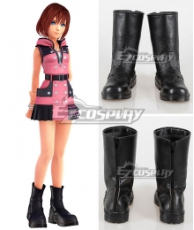 Kingdom Hearts III Kairi Black Cosplay Shoes
