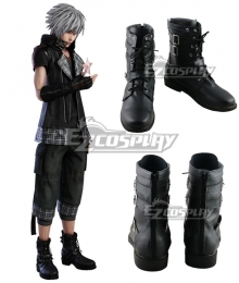 Kingdom Hearts III Kingdom Hearts 3 Verum Rex Yozora Black Shoes Cosplay Boots