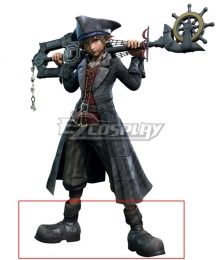Kingdom Hearts III Pirate Sora Gray Shoes Cosplay Boots