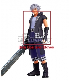 Kingdom Hearts III Riku Cosplay Costume - Only Coat and Gloves