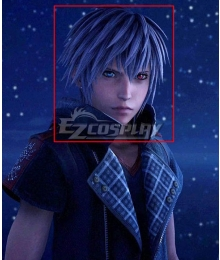 Kingdom Hearts III Verum Rex Yozora Blue Grey Cosplay Wig