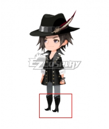 Kingdom Hearts Union X Blaine Black Shoes Cosplay Boots