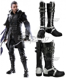 Kingsglaive: Final Fantasy XV FF15 Nyx Ulric Black Shoes Cosplay Boots - A Edition
