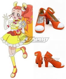 Kirakira PreCure A La Mode Cure Custard Himari Arisugawa Orange White Cosplay Shoes