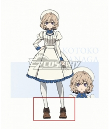 Kyokou Suiri InSpectre Kotoko Iwanaga Brown Cosplay Shoes