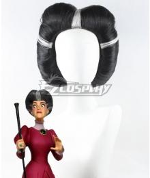Disney Cinderella Lady Tremaine Wicked Stepmother Black Silver Cosplay Wig