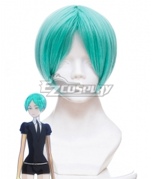 Land of the Lustrous Houseki no Kuni Phosphophyllite Cyan Short Hair Cosplay Wig 456I