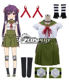 School-Live! Gakko Gurashi! Living at School! Kurumi Ebisuzawa School Uniform Cosplay Costume