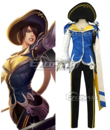 League of Legend LOL Royal Guard Fiora Cosplay Costume
