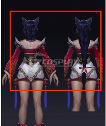 League of Legends 2014 Ahri Blue Cosplay Wig