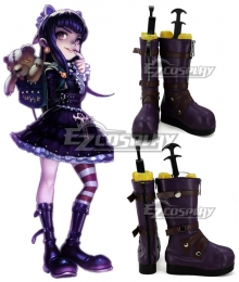 League Of Legends Goth Annie The Dark Child Purple Shoes Cosplay Boots
