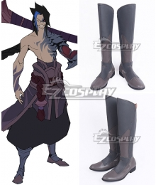 League of Legends Kayn the Shadow Reaper Gray Shoes Cosplay Boots