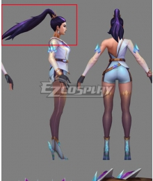 League Of Legends LOL 2020 KDA Kai'Sa Kaisa Prestige Edition Black Cosplay Wig