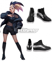 League Of Legends LOL 2020 KDA K/DA Akali Black Cosplay Shoes