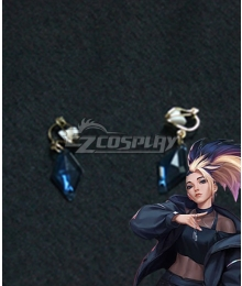 League Of Legends LOL 2020 KDA K/DA Akali Earring Cosplay Accessory Prop