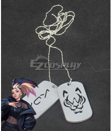 League Of Legends LOL 2020 KDA K/DA Akali Necklace Cosplay Accessory Prop