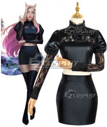 League Of Legends LOL 2020 KDA K/DA THE BADDEST Ahri Leather Version Cosplay Costume