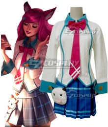 League of Legends LOL Academy Ahri The Nine Tailed Fox Cosplay Costume
