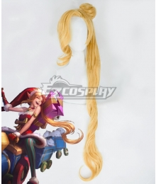 League Of Legends LOL Ambitious Elf Jinx Christmas Golden Cosplay Wig